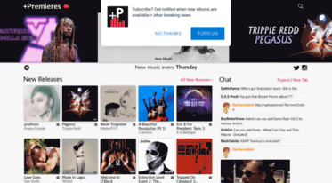Plus premieres new music every thursday