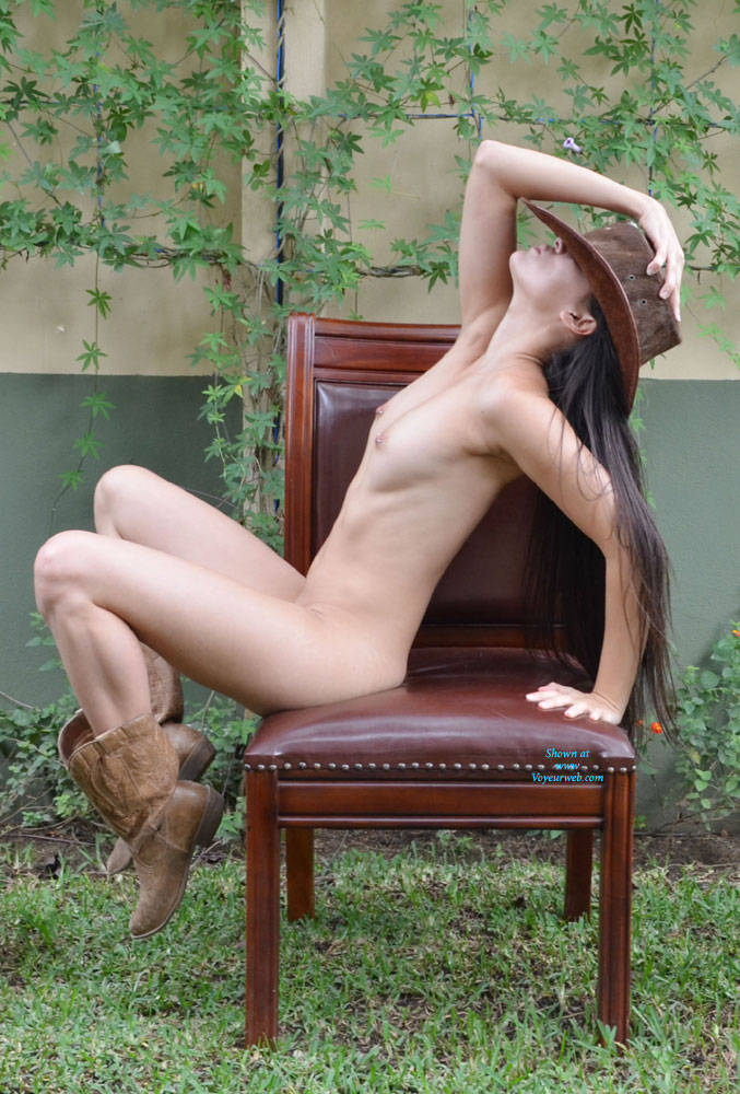 Cowgirls naked in boots
