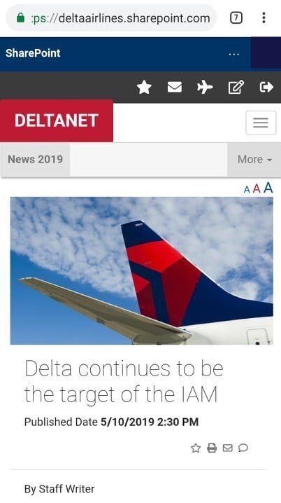 Delta airlines sharepoint