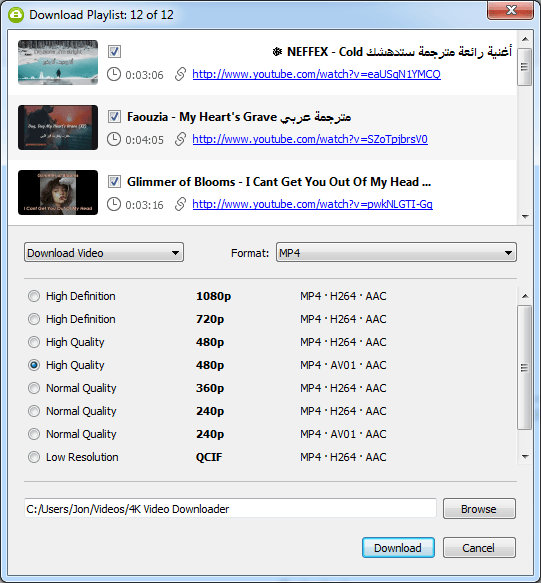 How to make offline playlist on youtube